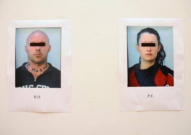 Gli autori del folle gesto: la 23enne di Travagliato e l'amico di 43 anni, residente a Gussago (Fotogramma Brescia)