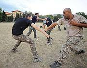 Appassionati di Krav Magà si allenano a Campo Marte (Fotogramma/Bs)