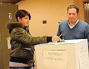 Un momento delle votazioni (Foto Cavicchi)