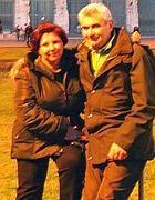 Marica Benini con il marito