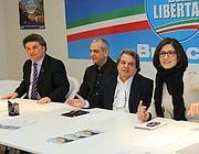 Brunetta nella sede bresciana del Pdl (Fotogramma/Bs)
