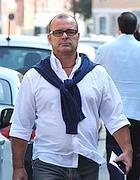 L'arrivo in tribunale di Enio Moretti (Fotogramma/Bs)