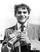 Ezio Gamba, con la medaglia d'oro