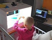 Un piccolo paziente coinvolto nel progetto