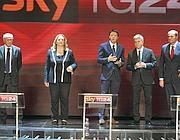 I candidati durante la loro sfida su Sky