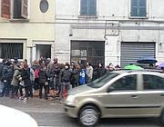 L'ex hotel occupato in via Corsica 21 (foto Bresciapoint)