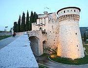 Il castello di Brescia, dove la donna ha deciso di farla finita (Fotogramma/Bs)