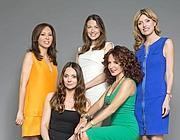 da sinistra: Warly Tomei, Maria Cecilia Andretta, Francesca Bongiovanni, Gabriella Dompè, e Umberta Gussalli Beretta