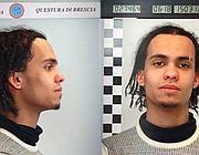 Mohamed Jarmoune dopo l'arresto (Fotogramma/Bs)