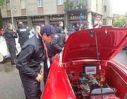 Matteo Marzotto con l'auto guasta, poi riparata