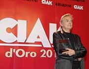Mauro Pagani al ritiro del premio
