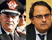 Il generale Delfino e Andrea Arcai