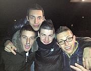 Luca Bagossi, il primo a destra (foto Facebook)