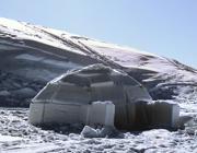 Un igloo simile a quello realizzato in Presena per le primarie dell'8 dicembre
