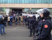 La protesta in via Lamarmora (Campanelli)