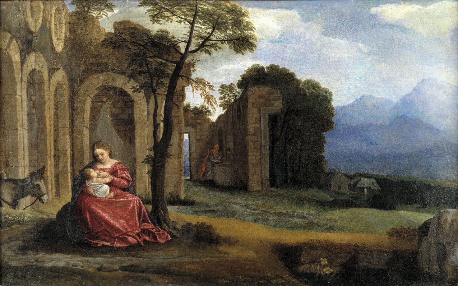 Riposo durante la fuga in egitto di Giovanni Girolamo Savoldo