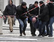 L'arresto dei forconi a Roma (Lapresse)