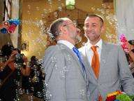 Celebrata la prima unione civile di Brescia: «Per noi è un sogno»